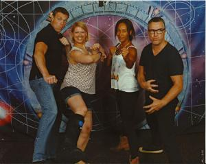 Michael Shanks, Rachel Luttrell, and Paul McGillion
