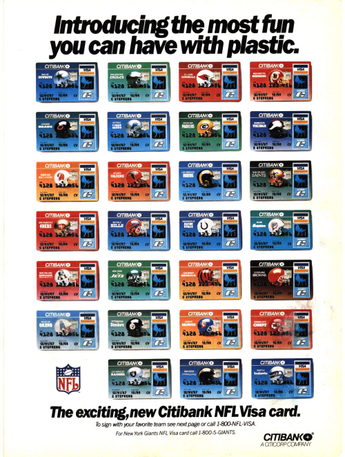 Credit card offer details for the NFL Extra Points Visa Card. Compare cards at CreditWeb and apply on-line safely on the Bank of America website.